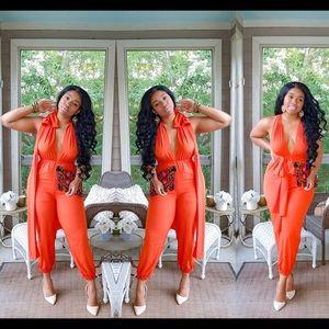 Rust Orange Jumpsuit